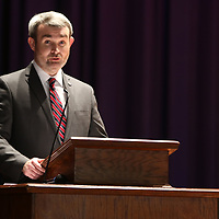 Mississippi's Assistant Secretary of State, Jeremy Martin, spoke Saturday at the Tupelo Middle Schools Mississippi Bicentennial Birthday Bash