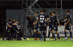 Dinamo after 3rd goal at 1st football game of 2nd Qualifying Round for UEFA Champions league between NK Domzale vs HNK Dinamo Zagreb, on July 30, 2008, in Domzale, Slovenia. Dinamo won 3:0. (Photo by Vid Ponikvar / Sportal Images)