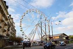 LIVERPOOL, ENGLAND - Thursday, December 10, 2015: A ferris wheel in Montreux. (Pic by David Rawcliffe/Propaganda)