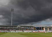 General image of ground as clouds gather during the LV County Championship Div 1 match between Durham County Cricket Club and Warwickshire County Cricket Club at the Emirates Durham ICG Ground, Chester-le-Street, United Kingdom on 12 July 2015. Photo by George Ledger.