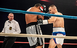 Hrvoje Sep of Croatia vs Janos Lakatos of Hungary during their lightheavyweight fight at CFC 5 Fighting event, on October 6, 2019 in Arena Stozice, Ljubljana, Slovenia. Photo by Vid Ponikvar / Sportida