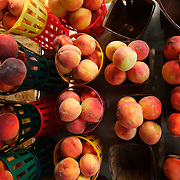 Peaches at a roadside produce stand near Wilmington, NC