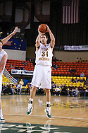 November 25th, 2010:  Anchorage, Alaska - University of Alaska-Anchorage forward Taylor Rohde (34) attempts a jump shot in the Seawolves 54-86 loss to Weber State in the first round of the Great Alaska Shootout.