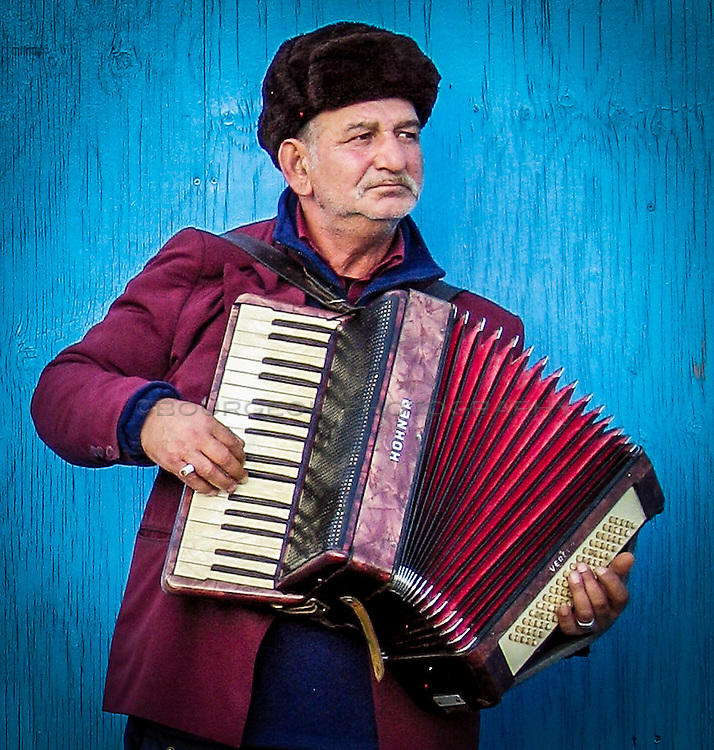 Accordion player in Ljubljana, Slovenia