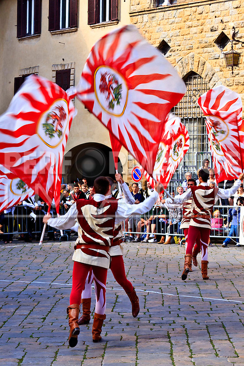 Flag throwing competition Volterra Italy