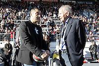 Mourad BOUDJELLAL / Patrick POIVRE D'ARVOR - 10.01.2015 - Toulon / Racing Metro - 16e journee Top 14<br />Photo : Jc Magnenet / Icon Sport