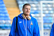 Lukas Raeder (23) of Bradford City arrives at Fratton Park stadium before the EFL Sky Bet League 1 match between Portsmouth and Bradford City at Fratton Park, Portsmouth, England on 28 October 2017. Photo by Graham Hunt.