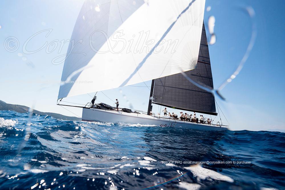 Evniki sailing in the  Corfu Challenge, day two.