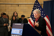 Mayor-Elect Bill de Blasio announces his appointment of Carmen Fari&ntilde;a, speaking, as Schools Chancellor at William Alexander Middle School in Park Slope, Brooklyn, NY on Monday, Dec. 30, 2013.<br /> <br /> CREDIT: Andrew Hinderaker for The Wall Street Journal<br /> SLUG: NYSTANDALONE