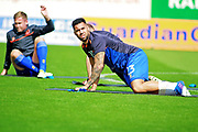 Mansfield Town forward Kane Hemmings (23)  warming up before the EFL Sky Bet League 2 match between Mansfield Town and Luton Town at the One Call Stadium, Mansfield, England on 26 August 2017. Photo by Nigel Cole.