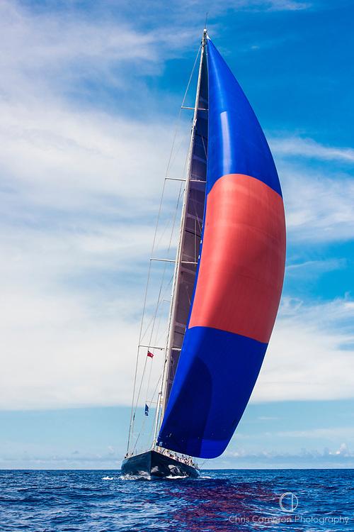 Bermuda, 13th June 2017. America's Cup Superyacht regatta. Race one. Rebecca.
