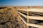 Nebraska NE USA, wooden ranch fence