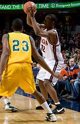 Virginia Cavaliers F Jamil Tucker (12)..The Virginia Cavaliers men's basketball team defeated the Vermont Catamounts 90-72 at the John Paul Jones Arena in Charlottesville, VA on November 11, 2007.