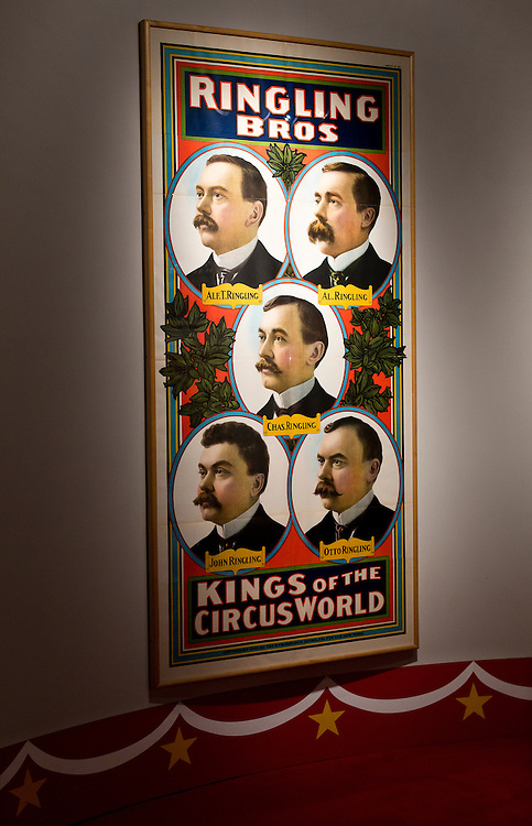 BARABOO, WI – JANUARY 23: A promotional collage for the Ringling Brothers Circus on display at the Circus World Museum in Baraboo.