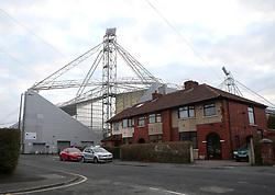 Deepdale, home of Preston North End, towers above the local houses - Mandatory by-line: Robbie Stephenson/JMP - 06/03/2018 - FOOTBALL - Deepdale - Preston, England - Preston North End v Bristol City - Sky Bet Championship