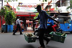 June 22, 2017 - Jakarta Barat, DKI Jakarta, Indonesia - Chinese citizens of Dharma Jaya Toasebio Vihara temple located on Jalan Kemenangan III, West Jakarta, one of the oldest monasteries in the region. (Credit Image: © Kuncoro Widyo Rumpoko/Pacific Press via ZUMA Wire)