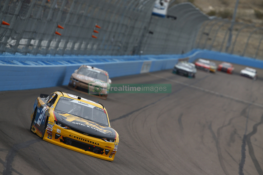 March 10, 2018 - Avondale, Arizona, United States of America - March 10, 2018 - Avondale, Arizona, USA: Daniel Hemric (21) brings his race car down the front stretch during the DC Solar 200 at ISM Raceway in Avondale, Arizona. (Credit Image: © Chris Owens Asp Inc/ASP via ZUMA Wire)