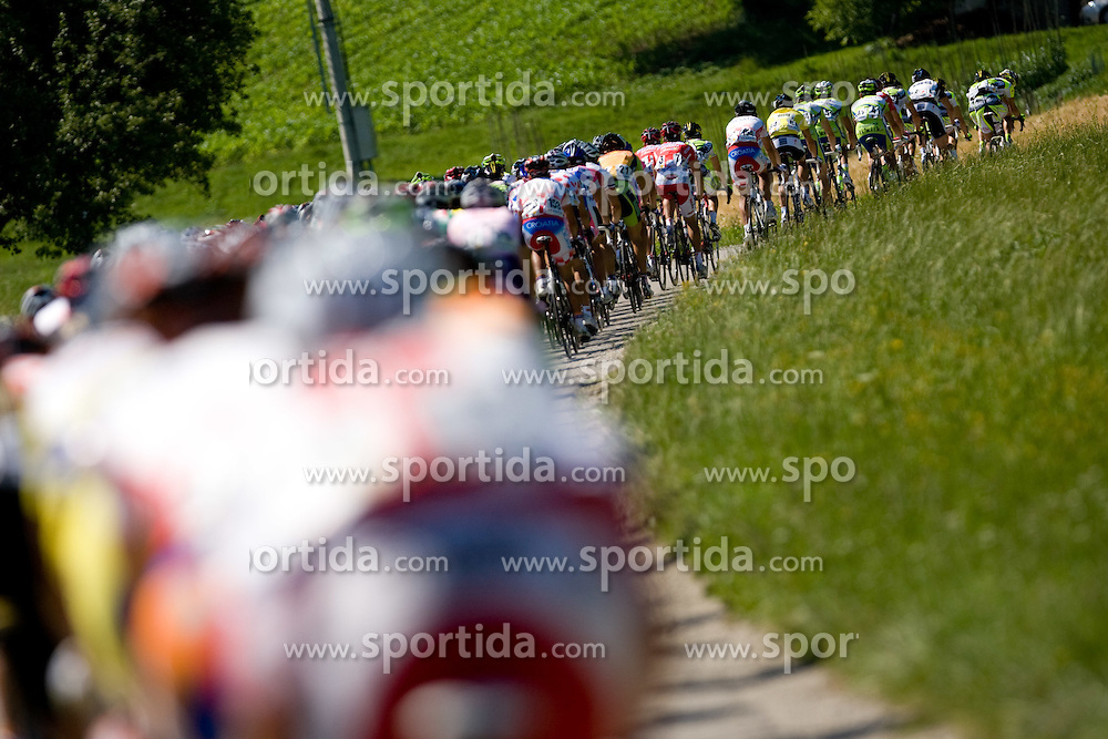 Peloton at Trescak at 2nd stage of Tour de Slovenie 2009 from Kamnik to Ljubljana, 146 km, on June 19 2009, Slovenia. (Photo by Vid Ponikvar / Sportida)