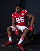 Antonio Reed #25 during a portrait session at Memorial Stadium in Lincoln, Neb. on June 6, 2017. Photo by Paul Bellinger, Hail Varsity