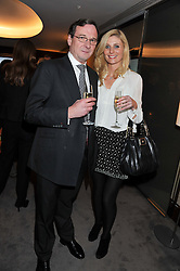 DENNIS O'CONNOR and ORLA COLGAN at a party to celebrate the publication of The Impossible Collection of Jewelry by Vivienne Becker hosted by Assouline and Bulgari at the Bulgari Hotel, 171 Knightsbridge, London on 17th January 2013.
