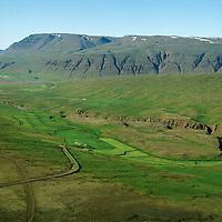 Villinganes séð til norðausturs, Lýtingsstaðahreppur.  Flatatunga í bakgrunni / Villinganes viewing northeast,  Lytingsstadahreppur. Flatatunga in background,