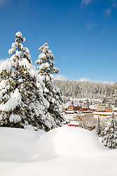 """Downtown Truckee 29"" - Photograph of a snowy historic Downtown Truckee, shot in the afternoon, after a big snow storm."