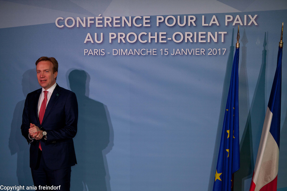 Middle East Peace Conference, Paris, France. International summit. 7O countries have participated in the summit. Norway, Berge Brende, Minister of Foreign Affairs