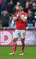 Football - 2018 / 2019 Emirates FA Cup - Fifth Round: Bristol City vs. Wolverhampton Wanderers<br /> <br /> Bristol City's Bailey Wright dejected at the final whistle, at Ashton Gate.<br /> <br /> COLORSPORT/ASHLEY WESTERN