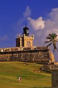 Fort San Felipe del Morro (El Morro) on San Juan, Puerto Rico