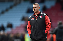 Gloucester Rugby Head Coach Johan Ackermann looks on during the pre-match warm-up - Mandatory byline: Patrick Khachfe/JMP - 07966 386802 - 01/12/2019 - RUGBY UNION - The Twickenham Stoop - London, England - Harlequins v Gloucester Rugby - Gallagher Premiership