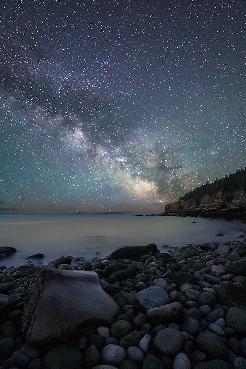 Milky Way over Otter Point. Winner of the 2014 Canon Summer Nights Contest.