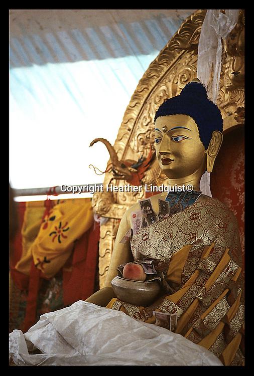 Statue of Buddha at Drikung Thil. In Pali, known as Sakyamuni Buddha.