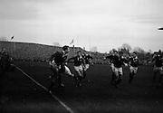 Irish Rugby Football Union, Ireland v Scotland, Five Nations, Landsdowne Road, Dublin, Ireland, Saturday 27th February, 1960,.27.2.1960, 2.27.1960,..Referee- D G Walters, Welsh Rugby Union, ..Score- Ireland 5 - 6 Scotland, ..Irish Team, ..T J Kiernan,  Wearing number 15 Irish jersey, Full Back, University college Cork Football Club, Cork, Ireland,..W W Bornemann, Wearing number 14 Irish jersey, Right Wing, Wanderers Rugby Football Club, Dublin, Ireland, ..J C Walsh,  Wearing number 13 Irish jersey, Right Centre, University college Cork Football Club, Cork, Ireland,..D Hewitt, Wearing number 12 Irish jersey, Left centre, Queens University Rugby Football Club, Belfast, Northern Ireland,..A C Pedlow, Wearing number 11 Irish jersey, Left wing,  C I Y M S Rugby Football Club, Belfast, Northern Ireland, ..M A English, Wearing number 10 Irish jersey, Outside Half, Bohemians Rugby Football Club, Limerick, Ireland,..A A Mulligan, Wearing number 9 Irish jersey, Captain of the Irish team, Scrum Half, London Irish Rugby Football Club, Surrey, England, ..B G Wood, Wearing number 1 Irish jersey, Forward, Landsdowne Rugby Football Club, Dublin, Ireland, ..B McCallan, Wearing number 2 Irish jersey, Forward, Ballymena Rugby Football Club, Antrim, Northern Ireland,..S Millar, Wearing number 3 Irish jersey, Forward, Ballymena Rugby Football Club, Antrim, Northern Ireland,..W A Mulcahy, Wearing number 4 Irish jersey, Forward, University College Dublin Rugby Football Club, Dublin, Ireland, ..M G Culliton, Wearing number 5 Irish jersey, Forward, Wanderers Rugby Football Club, Dublin, Ireland, ..N Murphy, Wearing number 6 Irish jersey, Forward, Cork Constitution Rugby Football Club, Cork, Ireland,..T McGrath, Wearing number 7 Irish jersey, Forward, Garryowen Rugby Football Club, Limerick, Ireland, ..J R Kavanagh, Wearing number 8 Irish jersey, Forward, Wanderers Rugby Football Club, Dublin, Ireland, ..Scottish Team, ..K L F Scotland, Wearing number 1 Scottish jersey,  Full Back, Cambridge