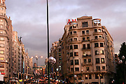 Spain, Madrid, Busy street in the city