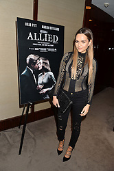MARIA HATZISTEFANIS at a screening of Paramount Pictures 'Allied' hosted by Rosie Nixon of Hello! Magazine at The Bulgari Hotel, 171 Knightsbridge, London on 23rd November 2016.