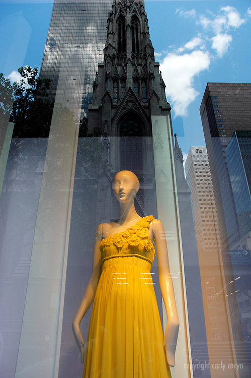 Yellow Kay Unger, Saks Fifth Ave, Spring 2009