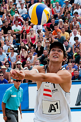 Alexander Seidl of Austria at A1 Beach Volleyball Grand Slam tournament of Swatch FIVB World Tour 2011, on August 5, 2011 in Klagenfurt, Austria. (Photo by Matic Klansek Velej / Sportida)