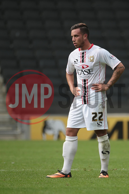 Milton Keynes Dons' Samir Carruthers  - Photo mandatory by-line: Nigel Pitts-Drake/JMP - Tel: Mobile: 07966 386802 24/08/2013 - SPORT - FOOTBALL - Stadium MK - Milton Keynes - Milton Keynes Dons V Bristol City - Sky Bet League One