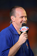 NFL Network football host Rich Eisen talks football during the American Football Conference AFC All-Stars game against the National Football Conference NFC All-Stars in the 2010 NFL Pro Bowl, January 31, 2010 in Miami, Florida.  The AFC won the game 41-34. ©Paul Anthony Spinelli