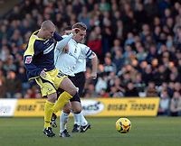Photo: Kevin Poolman.<br />Luton Town v Derby County. Coca Cola Championship. 18/11/2006. Derby's Seth Johnson and Rowan Vine of Luton fight it out over the ball.