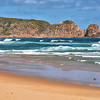 Cape Woolamai Beach in Cape Woolamai on Phillip Island, Australia <br />
