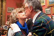 LINDY DUFFERIN OF AVA; ANDREW BARROW, Party to celebrate the publication of Animal Magic by Andrew Barrow. Tite St. London. 28 February 2011.  -DO NOT ARCHIVE-© Copyright Photograph by Dafydd Jones. 248 Clapham Rd. London SW9 0PZ. Tel 0207 820 0771. www.dafjones.com.