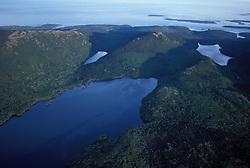 Acadia N.P., ME. Aerial. Eagle Lake. Mt. Desert Island. Eastern side.