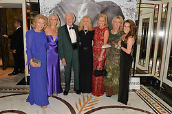Left to right, AVRIL SHEPHERD, MANDY SHEPHERD, DAVID SHEPHERD, MELINDA HOBSON, EMILY LAMB, MELANIE LAMB and PEANUT LAMB at the David Shepherd Wildlife Foundation 30th anniversary Wildlife Ball at The Dorchester, Park Lane, London on 10th October 2014.