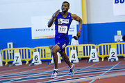 Hampton's Je'von Hutchison during the 2013 MEAC Men's and Women's Indoor Track and Field Championships at the Prince George's Sports and Learning Complex in Landover, Maryland.  February 15, 2013  (Photo by Mark W. Sutton)