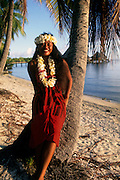 Dancer, Rangiroa, French Polynesia