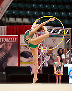 Eleonora Tagliabue from the San Giorgio Desio team during the Italian Rhythmic Gymnastics Championship in Bologna, 9 February 2019.