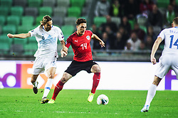 BAUMGARTLINGER Julian of Austria vs KRHIN Rene of Slovenia during the 2020 UEFA European Championships group G qualifying match between Slovenia and Austria at SRC Stozice on October 13, 2019 in Ljubljana, Slovenia. Photo by Peter Podobnik / Sportida