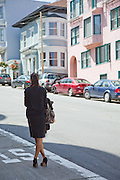 A Woman Waiting For A Taxi In San Francisco Photo