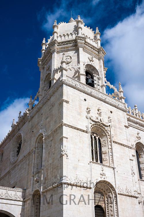 Church of Saint Mary - Igreja Santa Maria de Belem, part of Monastery of Jeronimos - Mosteiro  dos Jeronimos in Lisbon, Portugal